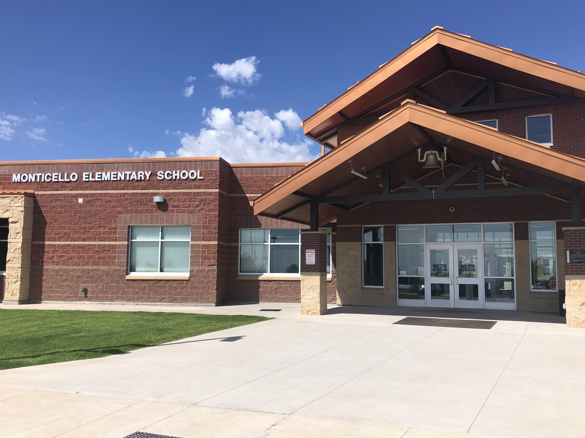 Schools throughout San Juan County, included pictured Monticello Elementary, will delay their start by two days