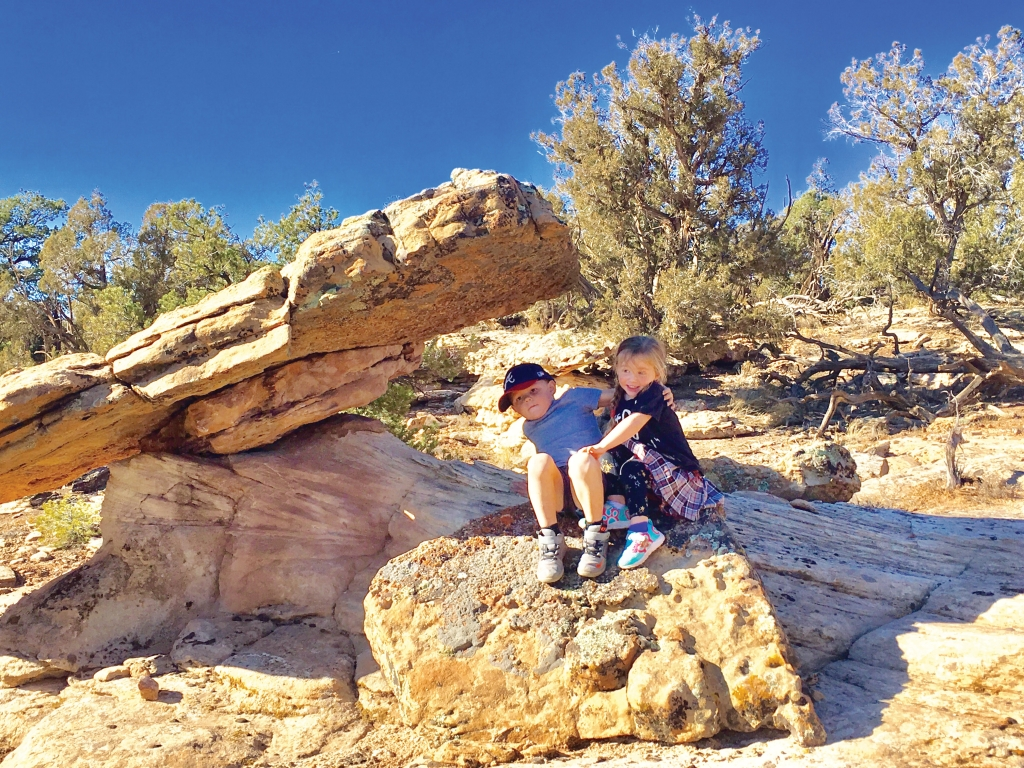 Enjoying a Thanksgiving holiday picnic and hike with family in Lem's Draw east of Blanding.  Brent Flavel photo
