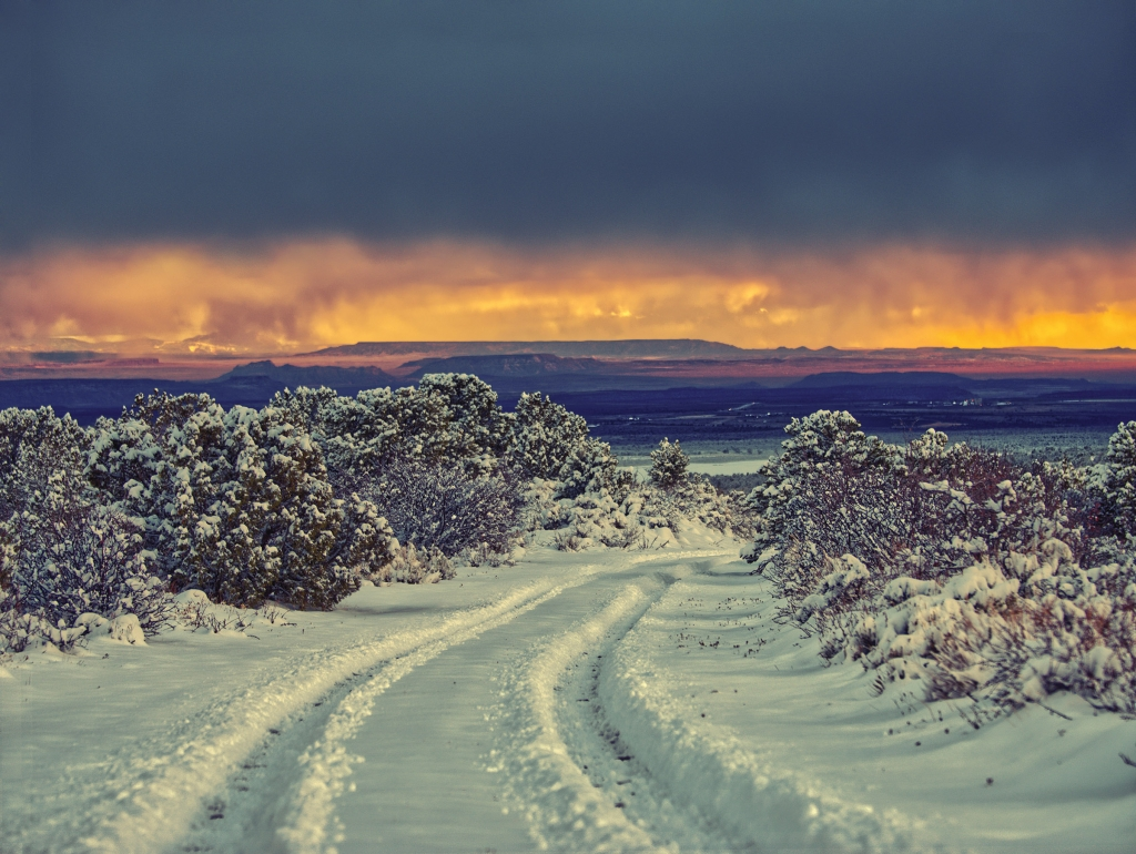 A March storm dumped some much-needed snow on San Juan County.  Walt Lacy photo