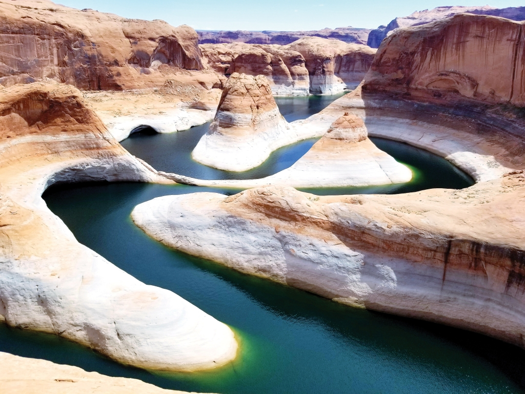 A 50-mile drive and 9.4 mile hike results in a view of Reflection Canyon near Lake Powell. Skyler Madison photo