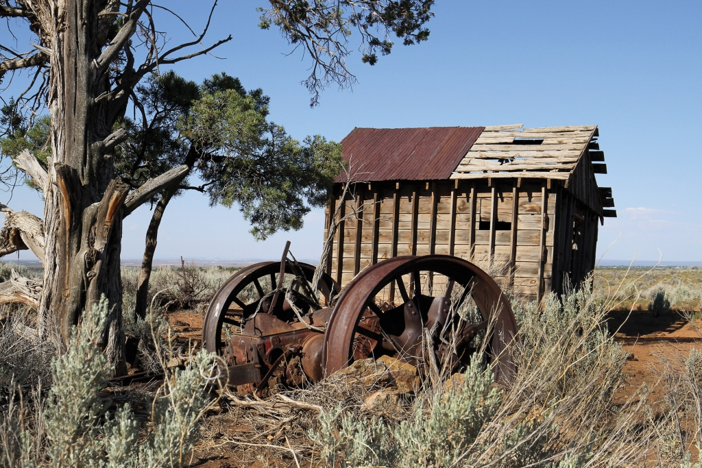 Having served for many years, this old granary now lays at rest.  Terrence Huge photo