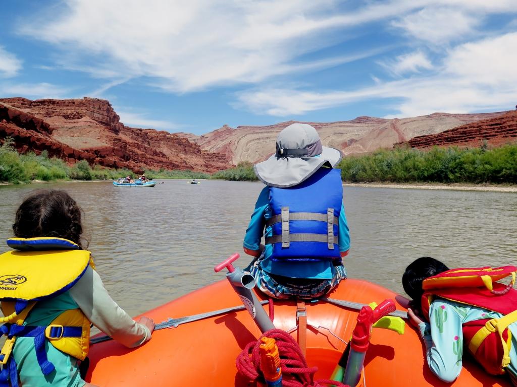 Floating the San Juan River.  Allison Yamamoto-Sparks photo