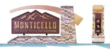 The Monticello City Council approved designs for new signs that will be built at all three entrances to the city. The signs were designed by Impact Signs of Salt Lake City. rtesy photo